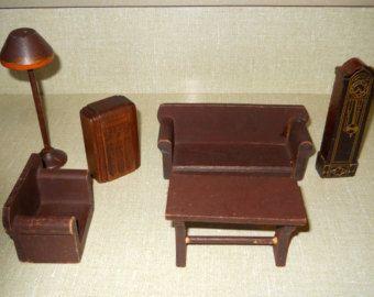 1940s Dollhouse Furniture Miniature Dollhouse Furniture