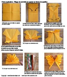 Pliage de serviettes de table en papier pliage de papier origami deocratio - Serviette de table pliage ...