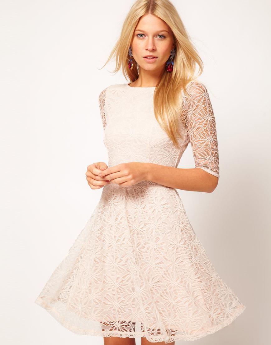Asos asos skater dress in lace at asos clothes pinterest
