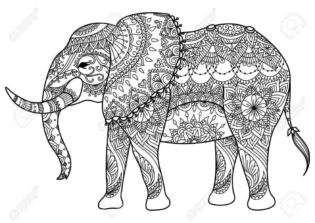 ausmalbilder elefant mandala / elefant ausmalbild