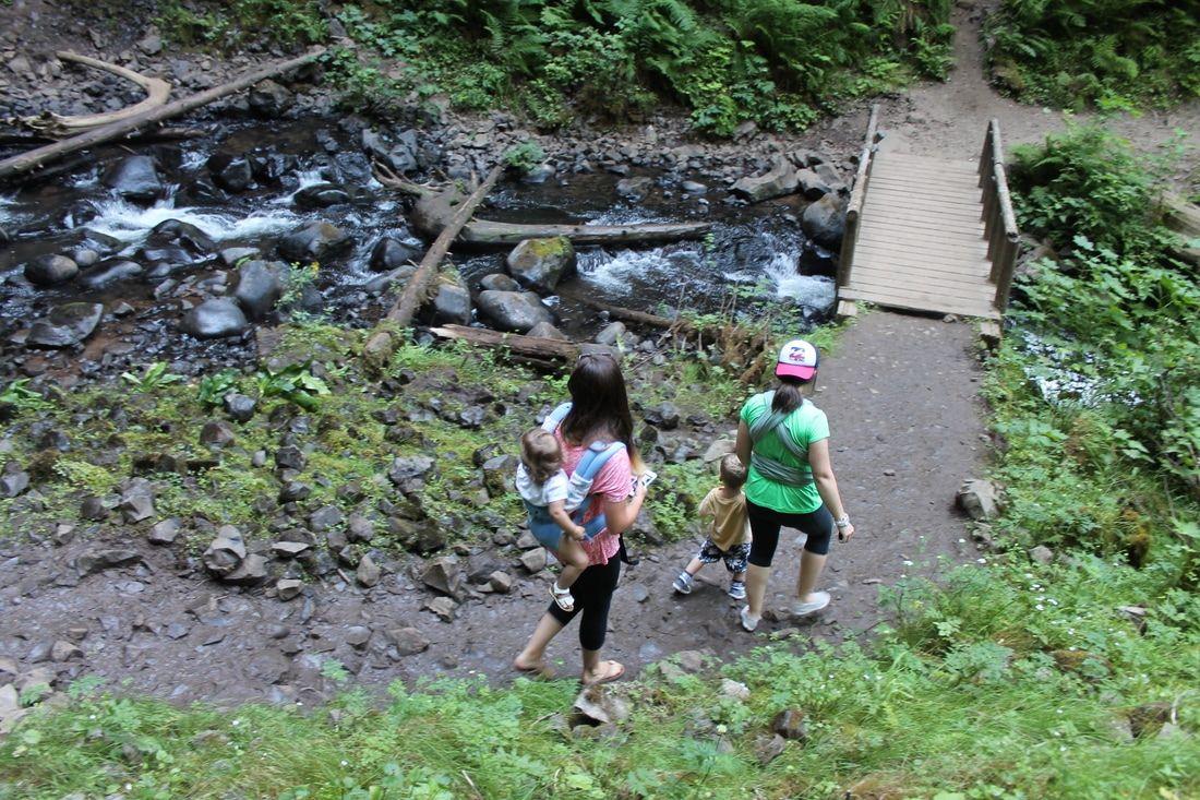 Latourell Falls Hike. Easy 2.4 mile hike. Columbia