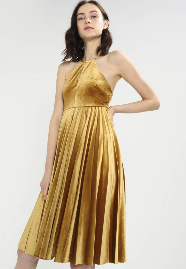 STRAPPY PLEATED DRESS - Cocktailkleid/festliches Kleid - golden ...