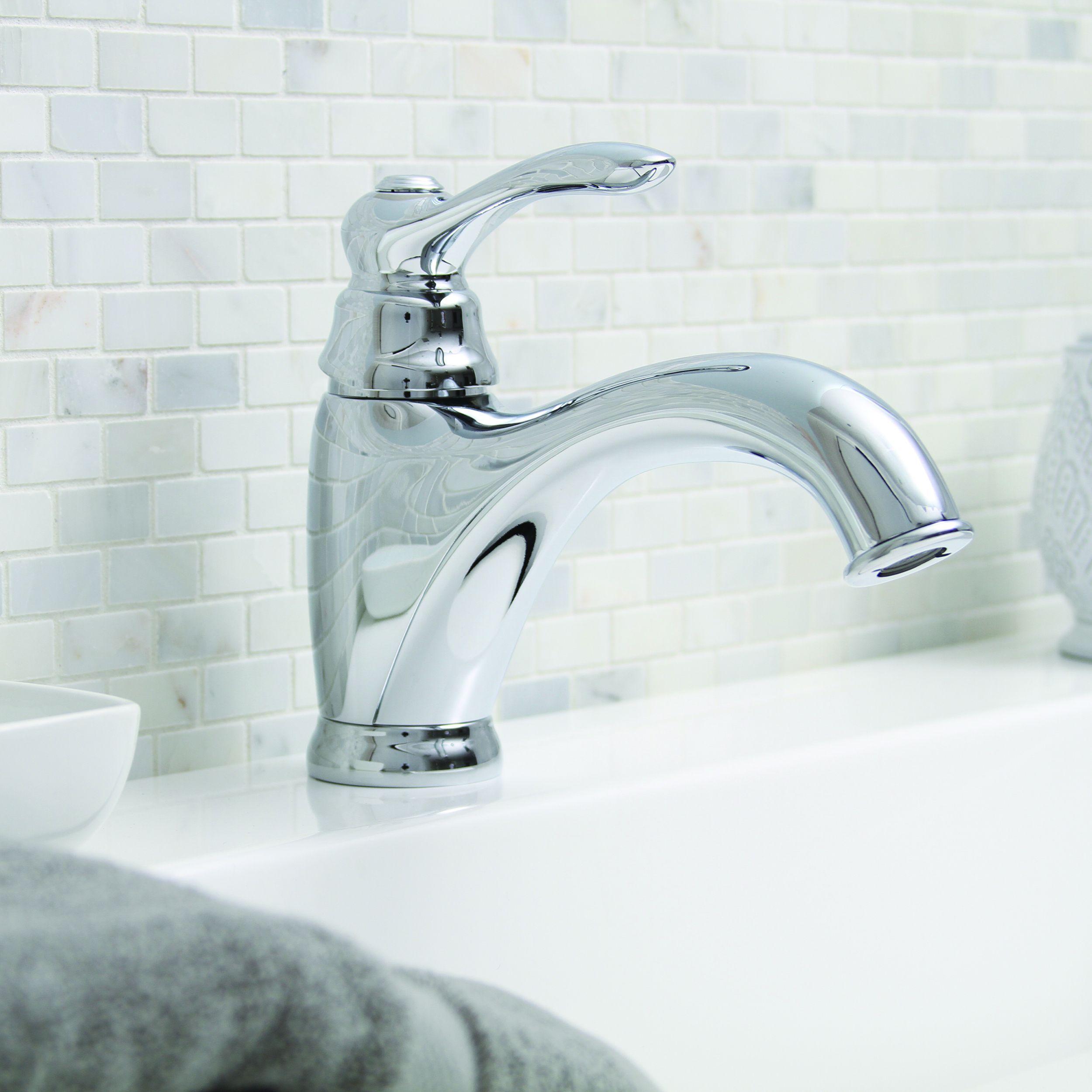 Premier Sanibel Lead-free Single-handle Chrome (Grey) Bathroom ...