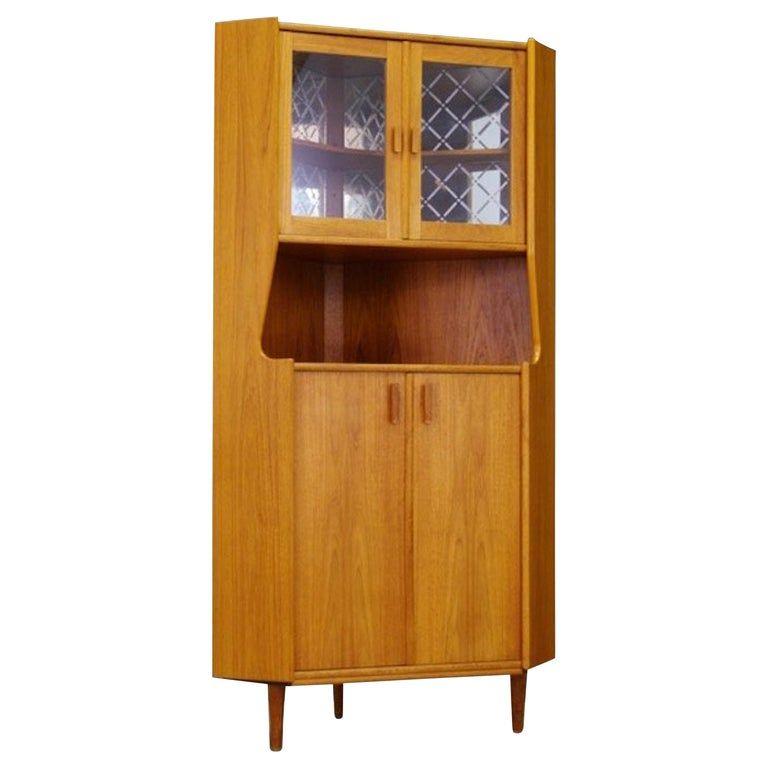 Corner Cabinet Teak Danish Design Vintage In 2020 Decor Home