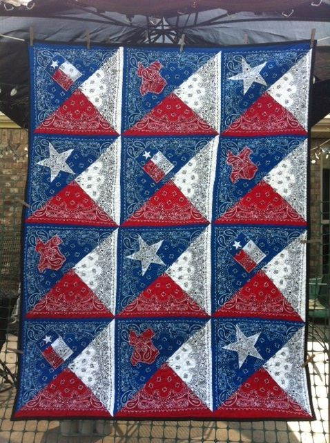 Texas Going Away Gift Patriotic Quilts Quilts Bandana Quilt