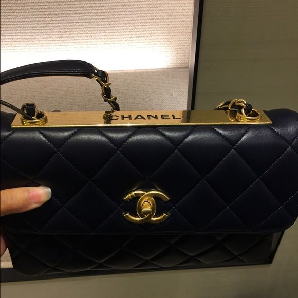5622e77e58de2f Chanel Trendy CC Flap bag Brand new never used. Medium size bag in lamb  skin. Black with gold hardware. CHANEL Bags