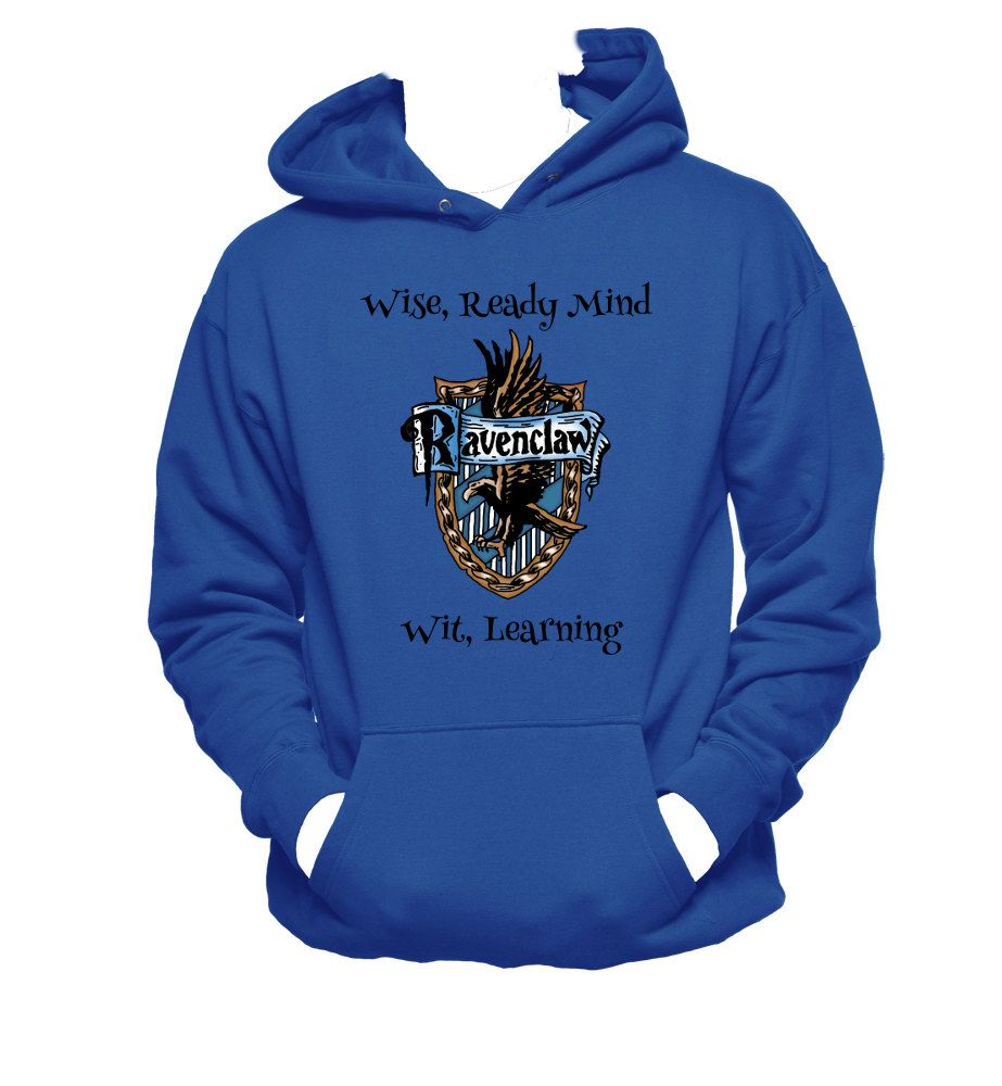 ac1896db516 Harry Potter RAVENCLAW CREST Licensed Adult Sweatshirt Hoodie Men s Clothing