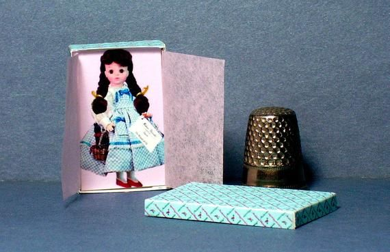 Wizard of Oz Dorothy Doll Box  -  Dollhouse Miniature 1:12 scale  Dollhouse Accessory - Dollhouse gi #dollhouseaccessories