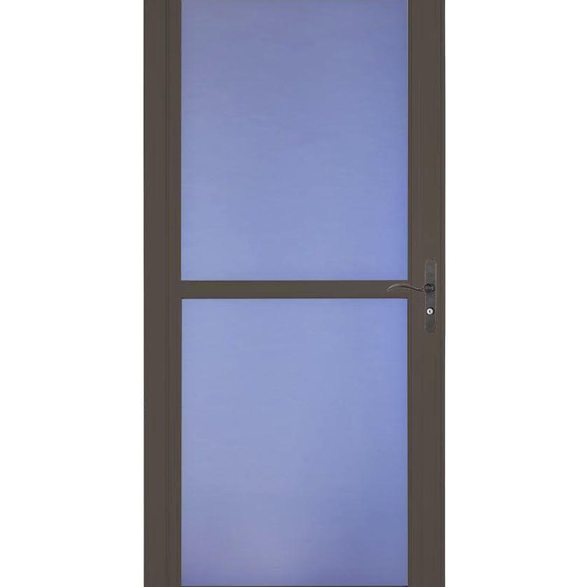 Larson Tradewinds Fv Brown Full View Aluminum Storm Door Common 36 In X 81 In Actual 3575 In X 7975 In 146040 In 2020 Aluminum Storm Doors Glass Storm Doors Storm Door