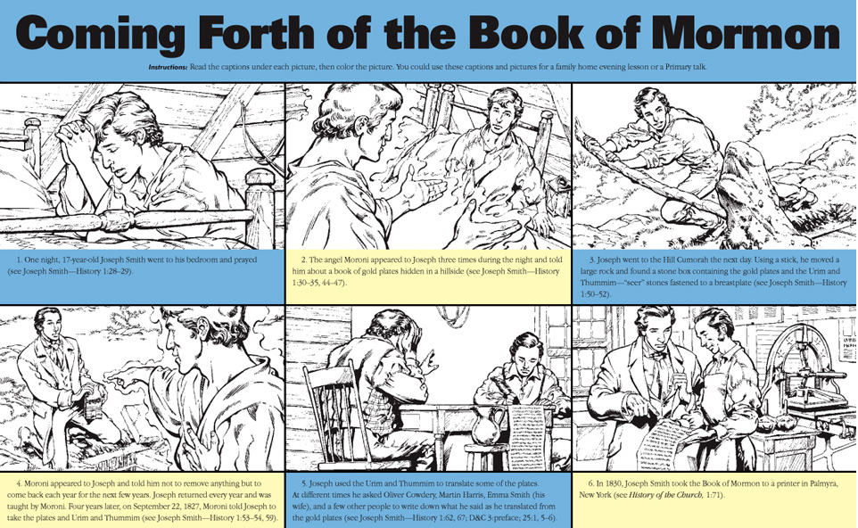 The Coming Forth of the Book of Mormon (LDS The Friend Magazine ...