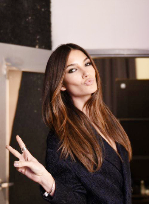 Amazing Dark Brown Hair Color Chart 12 Black Hair Color: Lily Aldridge Amazing Brown With Ombre