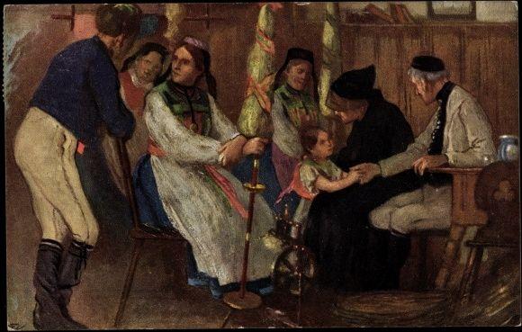 Künstler Reutlingen künstler ak reutlingen familie in traditioneller schwäbischer