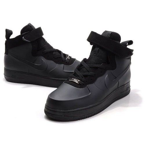 Nike Air Force One High Men Patent Leather Men Black Shoes 1004 $78
