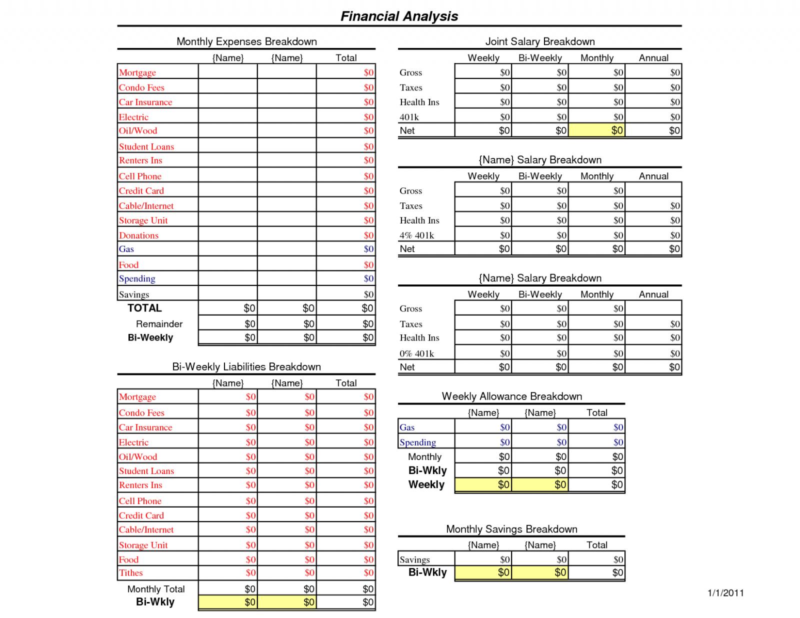 Unique Family Budget Worksheet Excel Exceltemplate Xls