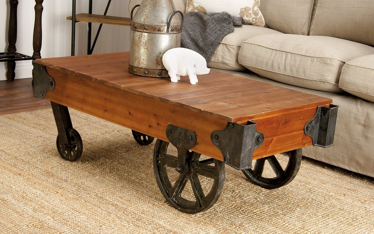 Wood and metal coffee table cart products i like pinterest