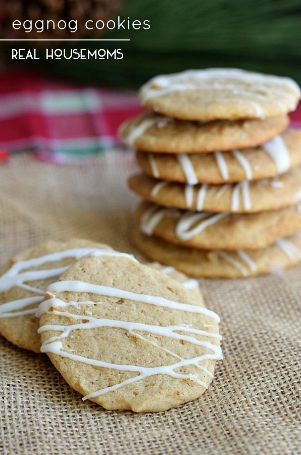 These EGGNOG COOKIES have all of the flavors of your favorite ...