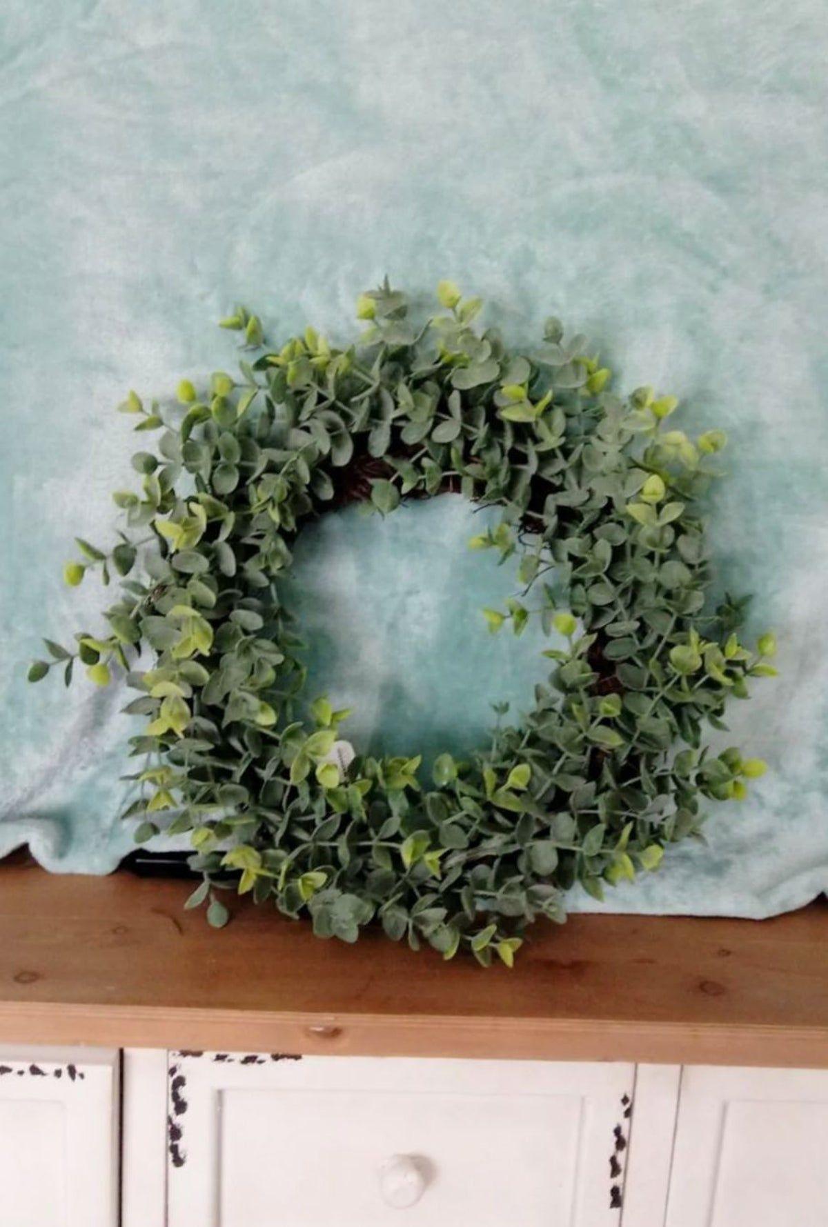 Photo of Farmhouse Eucalyptus wreath greenery