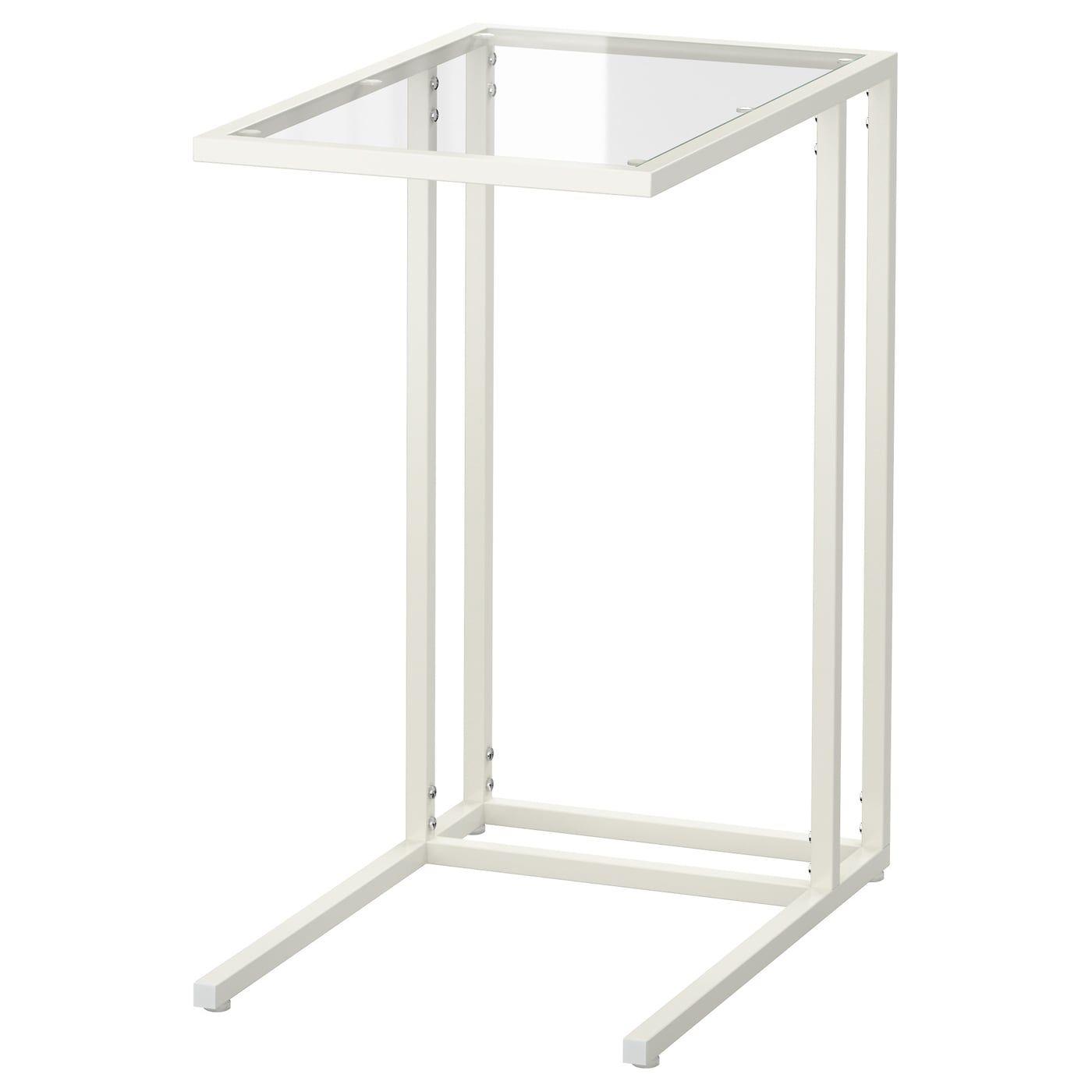 VITTSJÖ Laptop stand - white/glass - IKEA