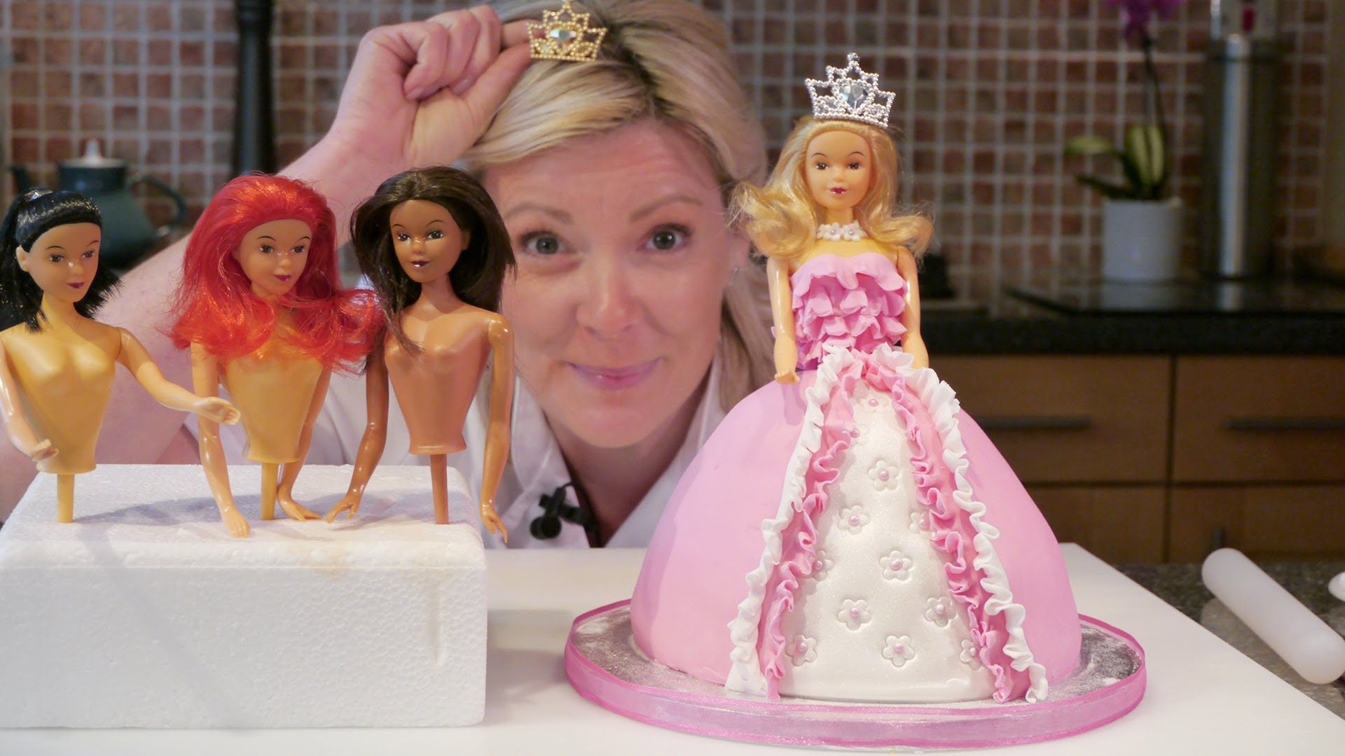 How To Make A Barbie Doll Princess Cake with icing Cake Craft
