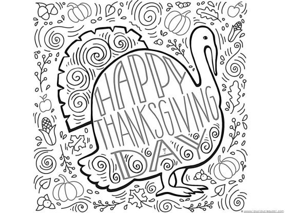 Thanskgiving Turkey Doodle Coloring Page – Thanksgiving Coloring Worksheets