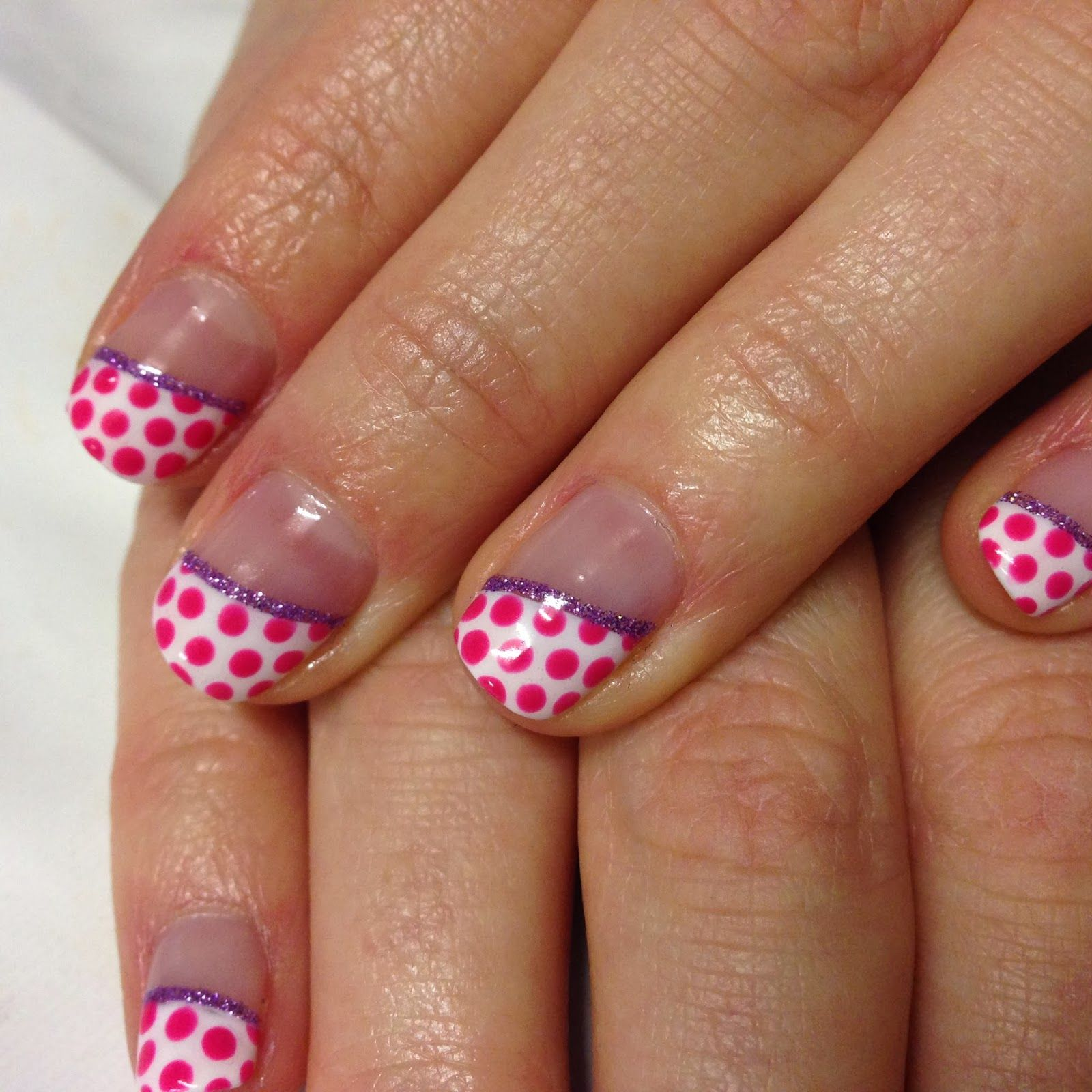 Brush up and polish up cnd shellac nail art diagonal french brush up and polish up cnd shellac nail art diagonal french and polka prinsesfo Image collections