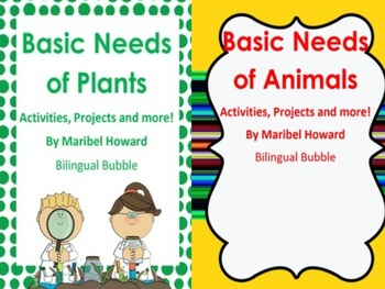 basic needs of plants and animals bundle plants teaching science and life science. Black Bedroom Furniture Sets. Home Design Ideas