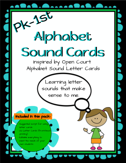 Editable alphabet sound cards inspired by open court alphabet editable alphabet sound cards inspired by open court alphabet sounds this template includes picture cards of animals objects or other things that make a altavistaventures Image collections