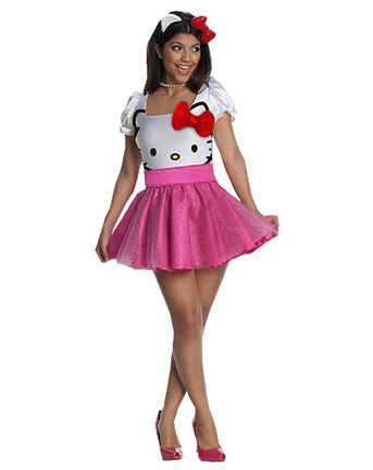 b8067b303a02 Hello Kitty Halloween Costume 🎀👻🎃 Cutest costume ever! Hello Kitty tutu  dress with belt and ears! Tutu is glittery. Slight snag on the front but  barely ...