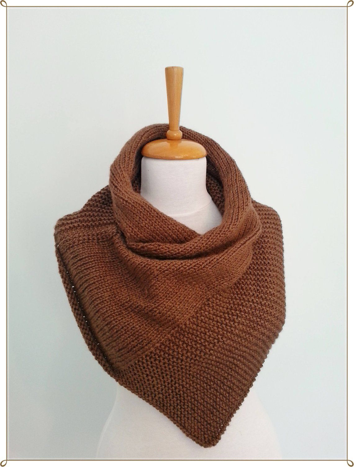 Knit Scarf Neck Warmer Brown Scarf Cowl Knit Cowl Hooded ...