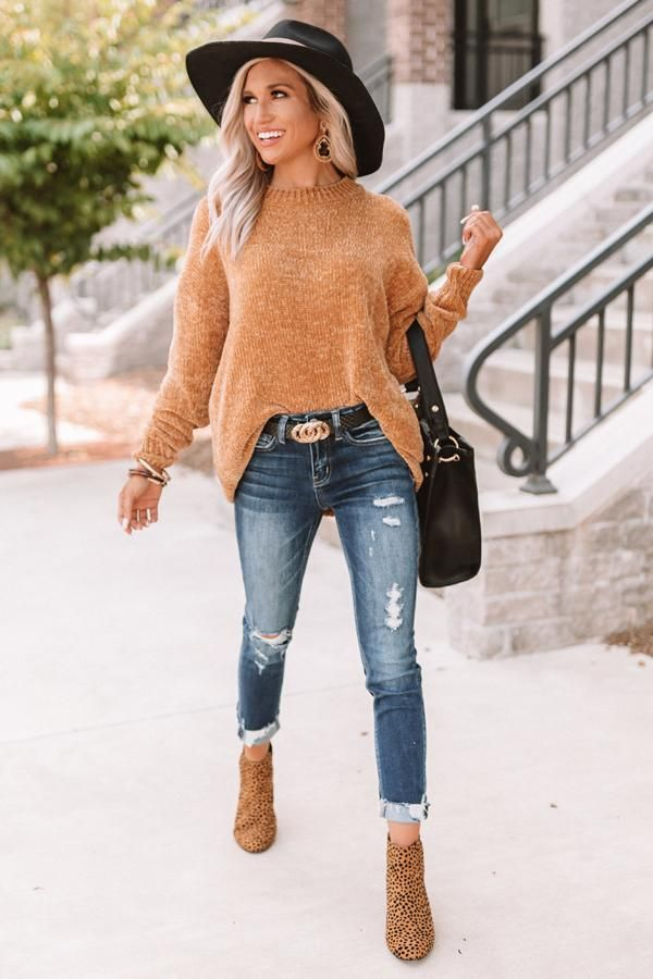 Cozy Celebration Chenille Sweater In Mustard