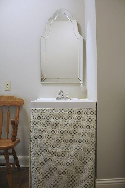 Plain U0026 Fancy Living: DIY Utility Sink Skirt