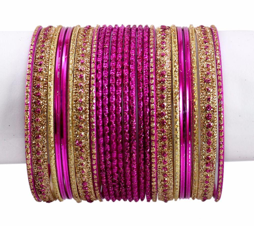 Chudi Black Color Indian Traditional Bollywood Wedding Kundan Style Bangles