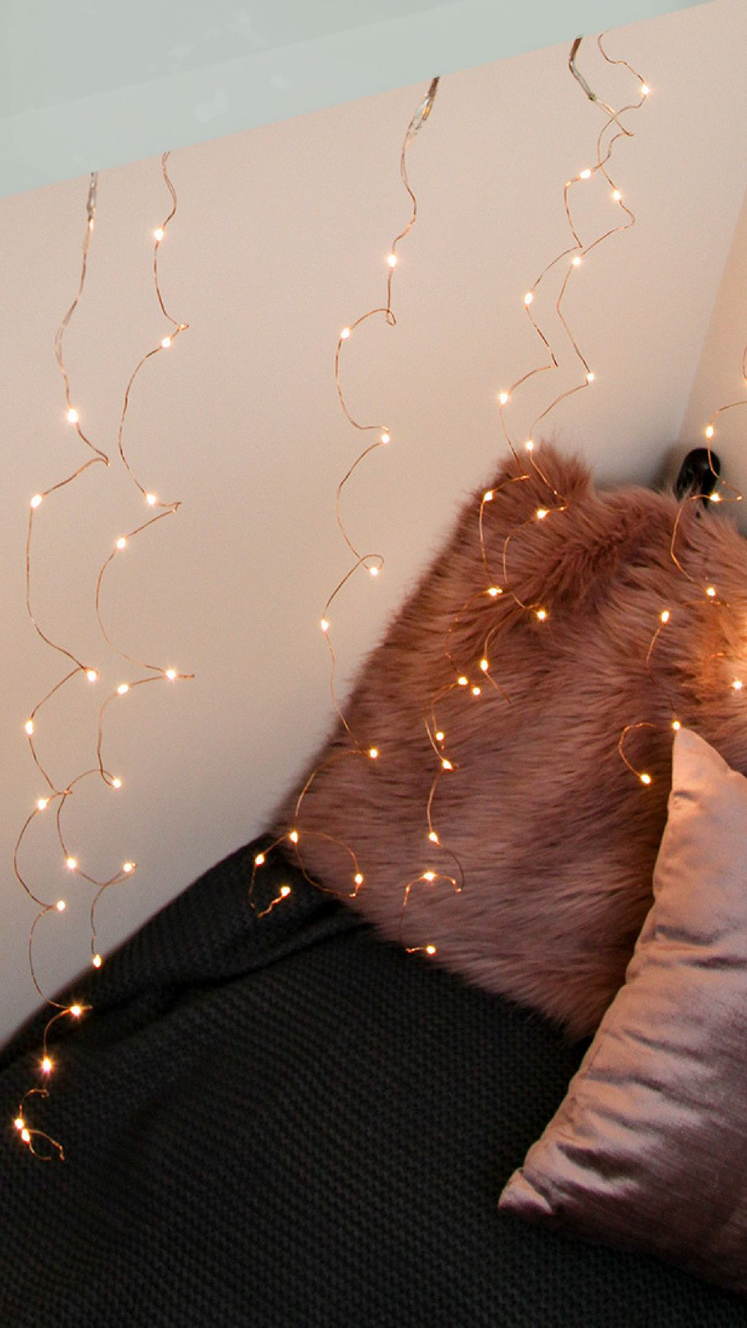 1m X 1m Plug In Copper Firefly Wire Curtain Lights 100 Warm White