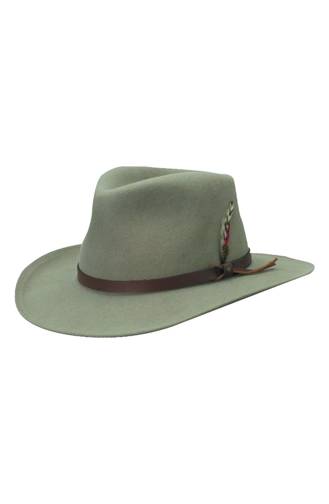 5405d0789fb Scala  Classico  Crushable Felt Outback Hat available at  Nordstrom ...