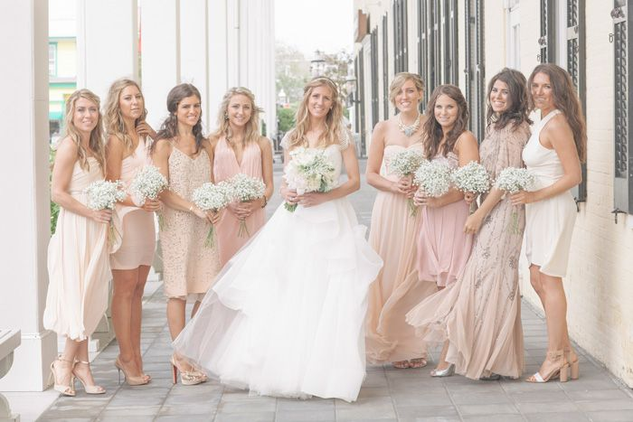 neutral color palette – blush, ivory, champagne,