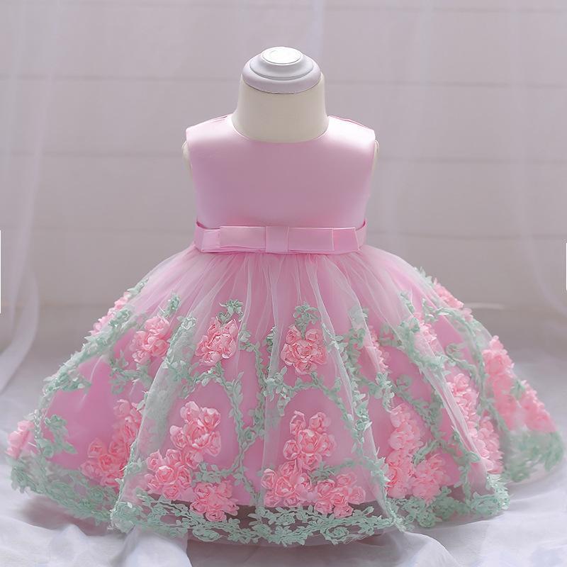 Annora rosette formal dress baby girl birthday dress