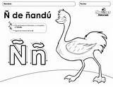 Letra N Mayuscula Y N Minuscula Nandu Colouring Pages Preschool Spanish Printable Coloring Pages