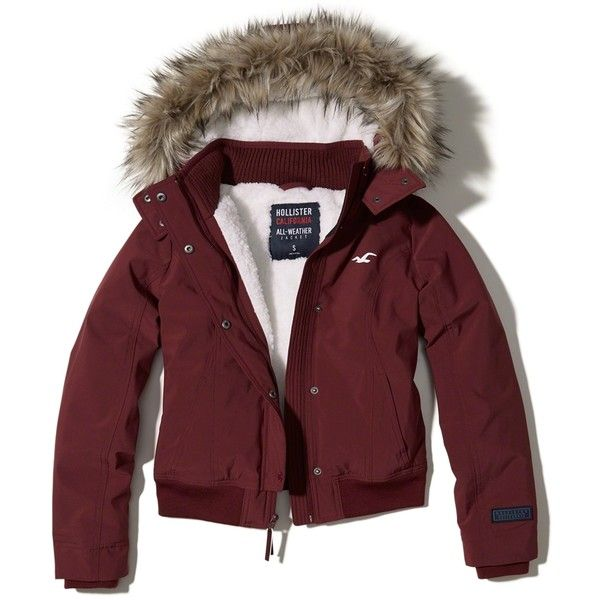 Designer Clothes, Shoes & Bags for Women | SSENSE. Hooded Bomber JacketBurgundy  ...