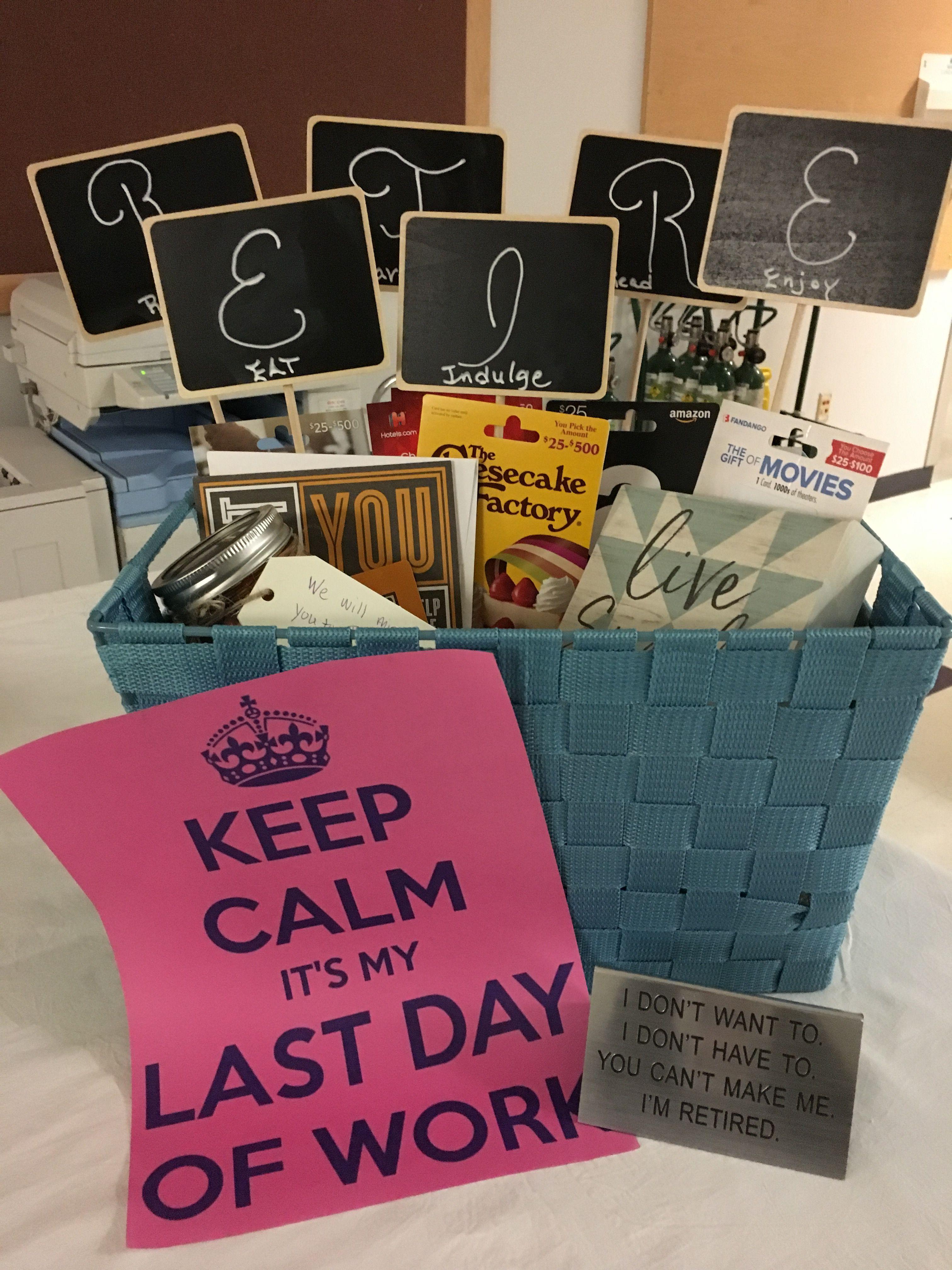 Retirement basket retirement gifts teacher retirement