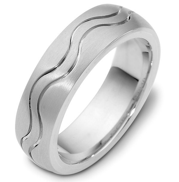 Product Detail By Weddingbands Com Engagement Rings Silver Wedding Bands Carved Wedding Ring