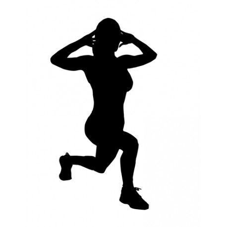 Lunge Silhouette | Awesome Silhouettes | Lunges, Exercise ...