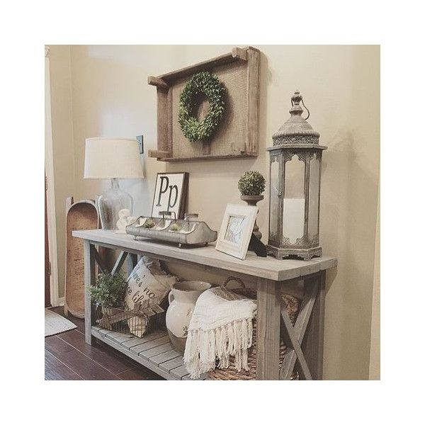 Rustic Fall Mantel ❤ liked on Polyvore featuring home, home decor, rustic home accessories, autumn home decor, rustic home decor and fall home decor