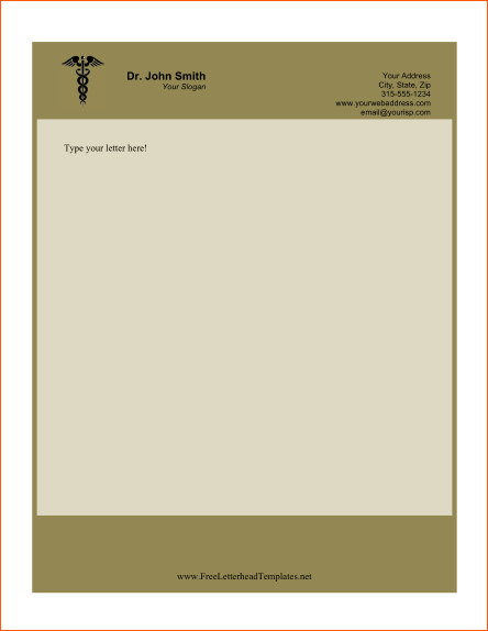 Doctor business letterhead template medical thank you letter free doctor business letterhead template medical thank you letter free word excel pdf format download spiritdancerdesigns Gallery