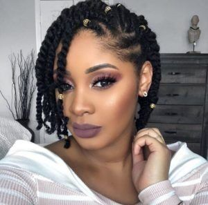 Natural Braided Hairstyles #naturalhairupdo