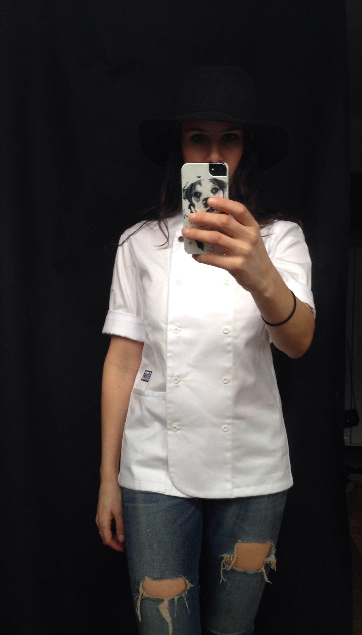 White apron for doctors online - Chef Uniforms Good Woman Chef Uniform Women Chef Coats Women S Dolma Professional Kitchen Aprons Bones Heads