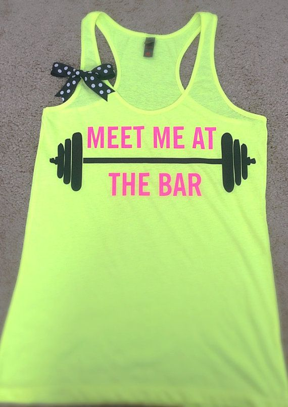 Gym Tank Funny Workout Shirts Cute Workout Tank Exercise Workout Tank Top Fitness Tank Meet Me At The Bar Tank Workout Tanks for Women