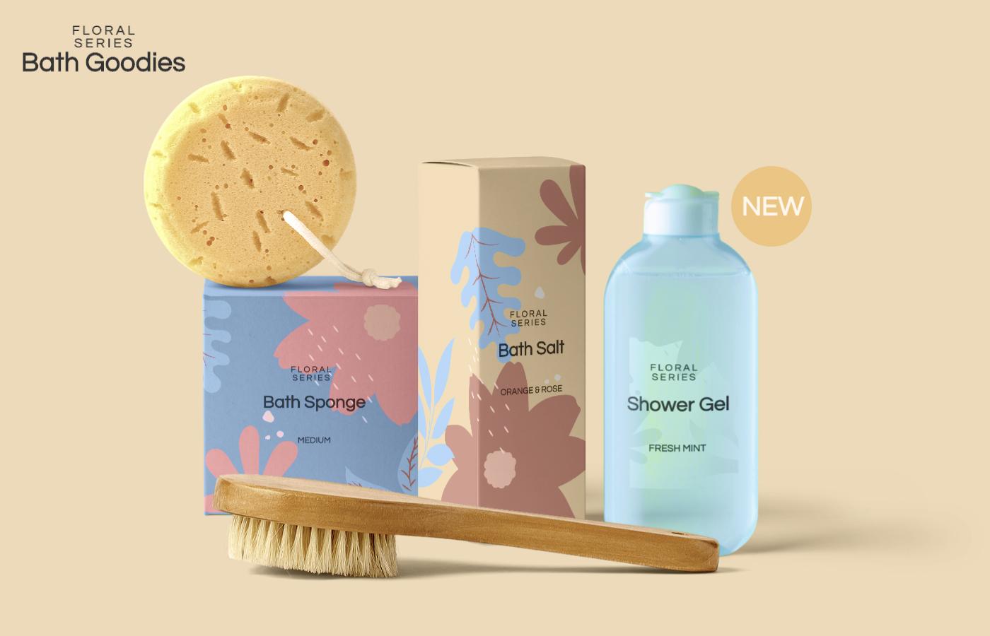 Free Bath Products Mockup Scene Cosmetics Mockup Free Mockup Templates Free Mockup