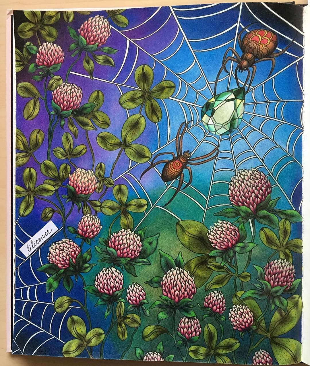 Oh my! It's finally done. This is the most coloring I have ever done (so many leaves ). I'm not good at limiting my colors, but I hope this isn't garish to your eyes. Thanks for taking a looking! Summer Nights by Hanna Karlzon done in colored pencils with a few fineliner touches. #adultcoloringbook #coloring #hannakarlzon
