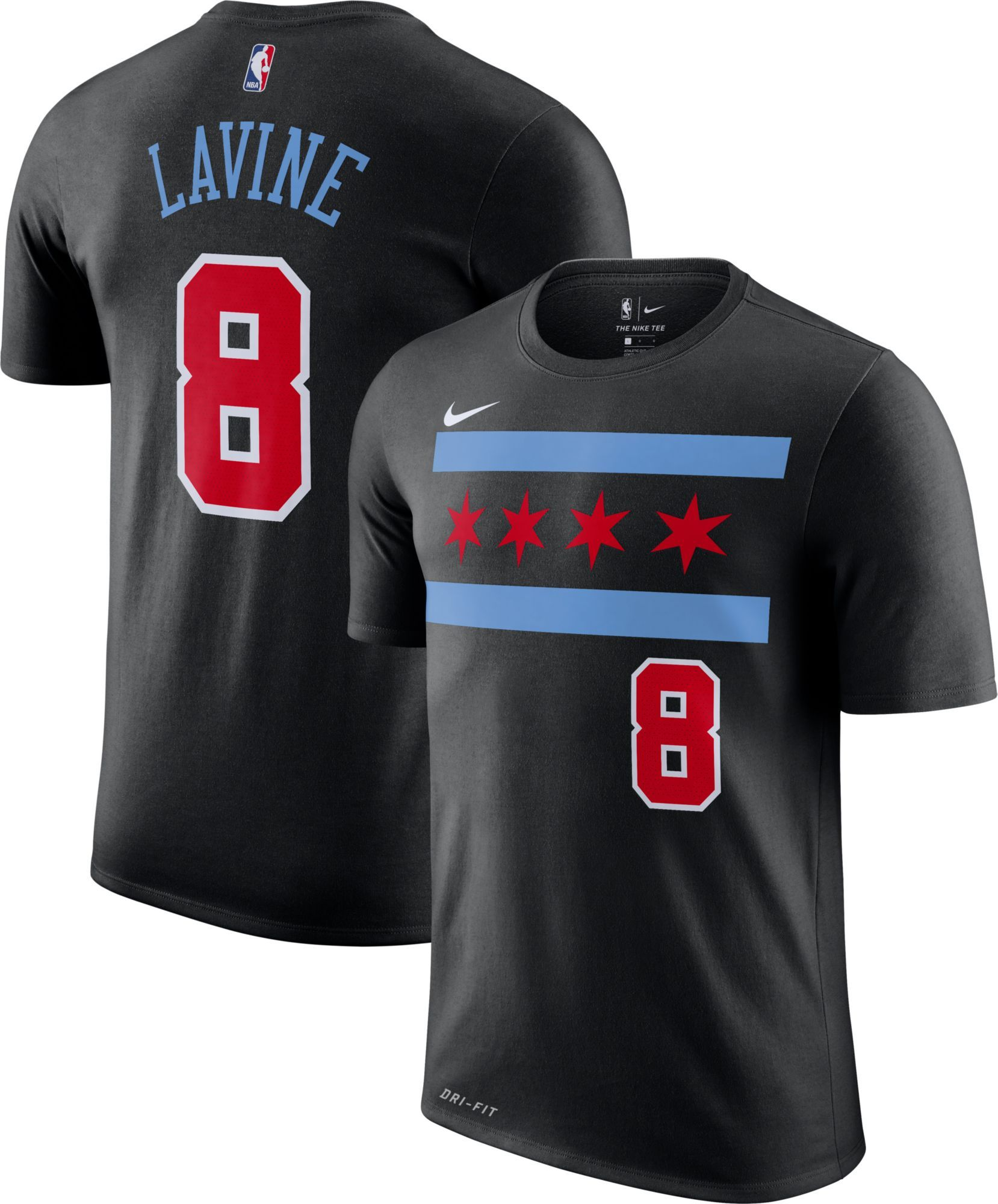 buy online 1f0c0 aaca2 Nike Youth Chicago Bulls Zach LaVine Dri-FIT City Edition T ...