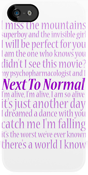 next to normal iPhone 5 case